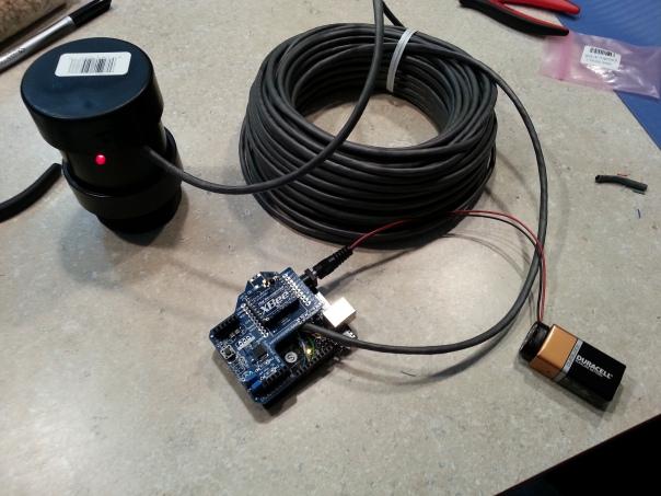 Final test setup